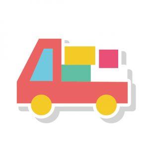 荷物を積んだトラック