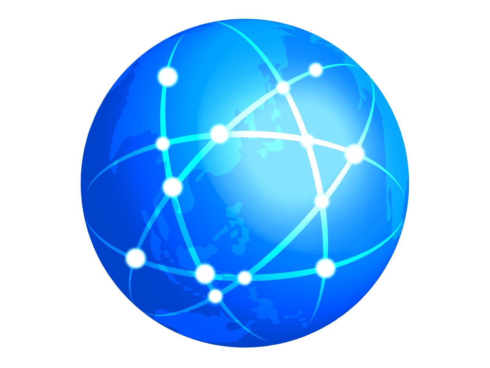 インターネットをイメージした地球