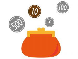 財布とコイン