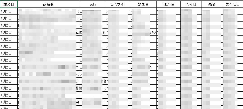 売上管理エクセル表